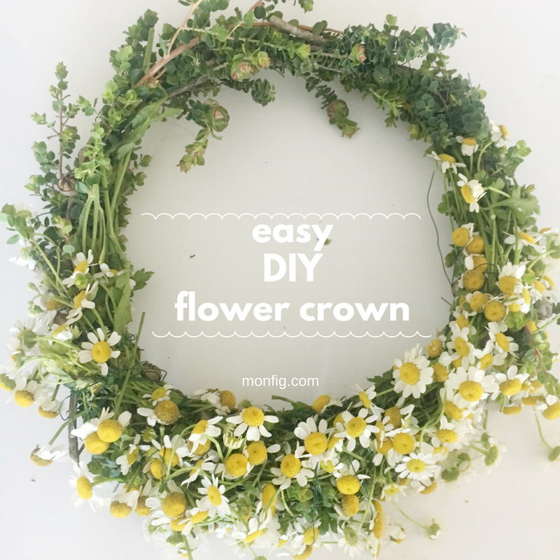 Easy DIY Flower Crown graphic