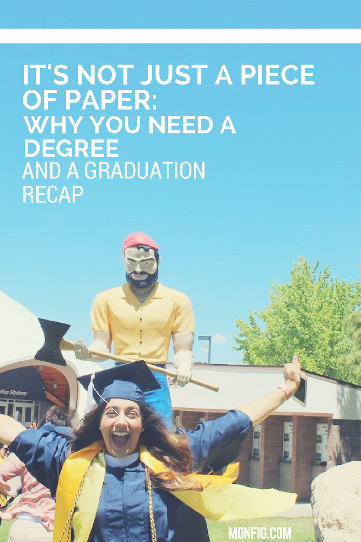 Fig Happenings // vol. 1 Graduation Recap & Why You Should Get A Degree graphic