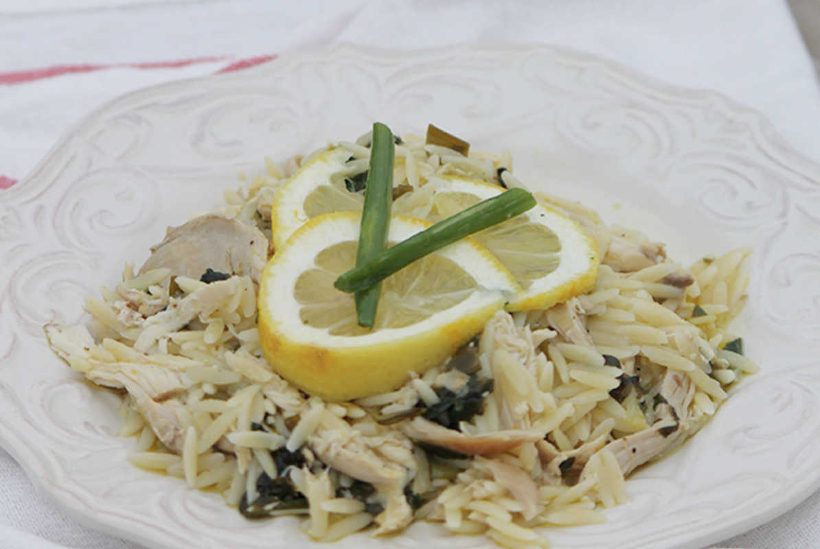 Recipe: Lemon Chicken Orzo graphic