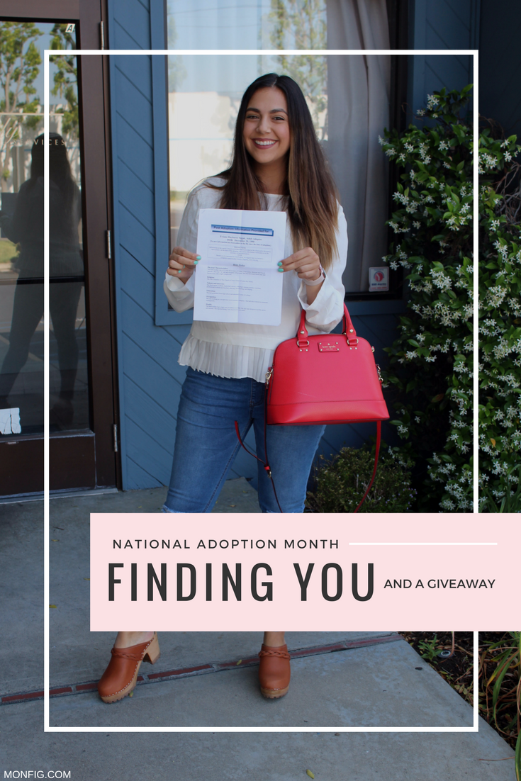 National Adoption Month: Finding You & Giveaway graphic